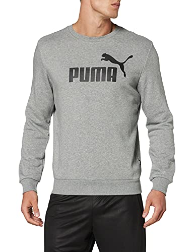 PUMA Men's ESS Crew TR Big Logo Sweatshirt, Grey Heather, X-Large from PUMA