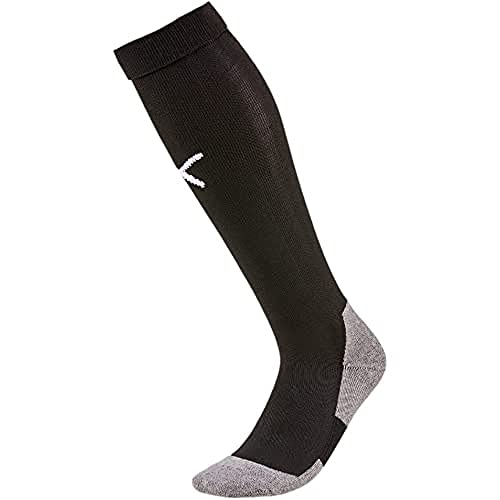 PUMA Men's LIGA Core Football Socks, Black/White, Size 4 from PUMA