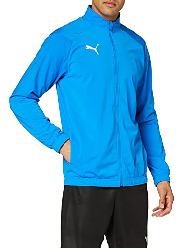 PUMJV|#Puma Men LIGA Sideline Poly Jacket Core Track Jacket - Electric Blue Lemonade-Puma White, S from PUMA