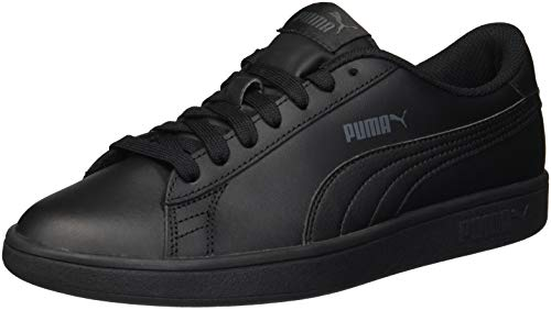 PUMA Unisex Kids Puma Smash v2 L Jr Sneakers, Puma Black-Puma Black, 3.5 UK from PUMA