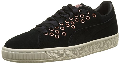 Puma Women's Suede Xl Lace Vr Low-Top Sneakers, Black (Black-Black), 6 6 UK from Puma