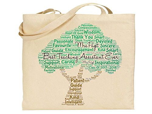 Personalised Teaching Assistant Tote Bag. For Everyday Use. Personalised details required from Pure Essence Greetings
