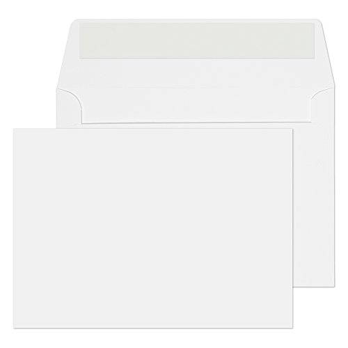 Blake Purely Everyday C6 114 x 162 mm 120 gsm Invitation Peel & Seal Envelopes (ENV5002) Ice White - Pack of 500 from Blake