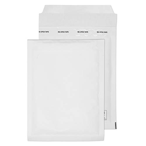 Blake Purely Packaging 215 x 150 mm Envolite Peel & Seal Padded Bubble Envelopes (C/0) White - Pack of 100 from Blake