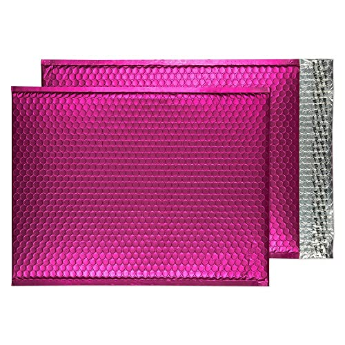 Blake Purely Packaging C3 450 x 324 mm Matt Metallic Padded Bubble Envelopes Peel & Seal (MTSP450) Shocking Pink - Pack of 50 from Blake