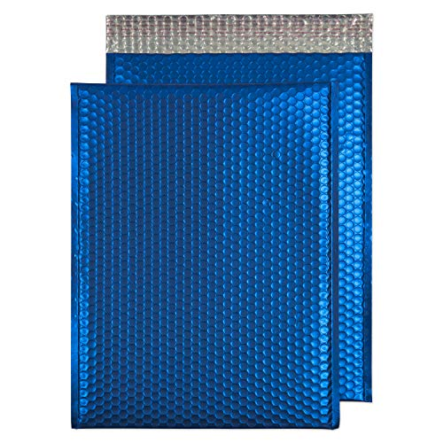 Blake Purely Packaging C3 450 x 324 mm Matt Metallic Padded Bubble Envelopes Peel & Seal (MTVB450) Victory Blue - Pack of 50 from Blake