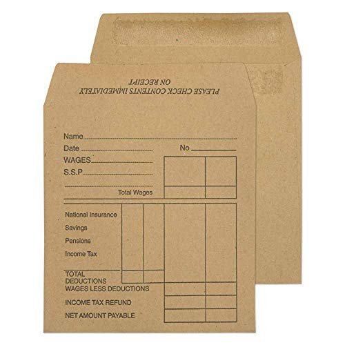 Blake Purely Everyday 108 x 102 mm 80 gsm Wage Pocket Self Seal Envelopes (1933PTD) Manilla - Pack of 1000 from Blake