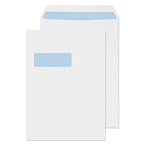 Blake Purely Everyday C4 324 x 229 mm 95gsm Self Seal Window Pocket Envelopes (FL3892) White - Pack of 250 from Blake