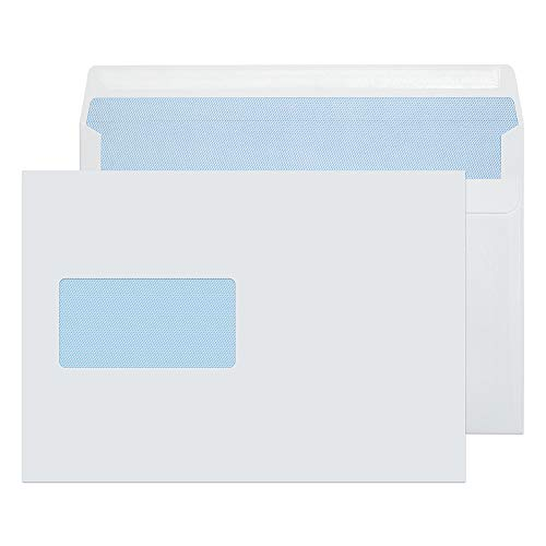 Blake Purely Everyday C5 162 x 229 mm 100 gsm Wallet Self Seal Window Envelopes (22708) White - Pack of 500 from Blake