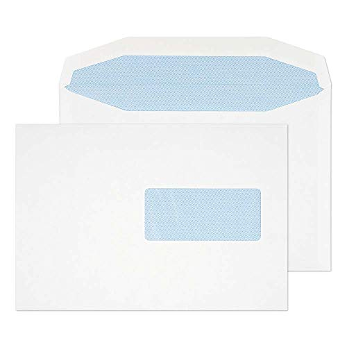 Blake Purely Everyday C5 162 x 229 mm 90 gsm Gummed Mailer Right Hand Window Envelopes (444RH) White - Pack of 500 from Blake