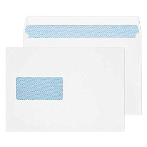 Blake Purely Everyday C5 162 x 229 mm 100 gsm Wallet Peel & Seal Window Envelopes (23708) White - Pack of 500 from Blake
