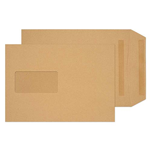 Blake Purely Everyday C5 229 x 162 mm 90 gsm Pocket Self Seal Window Envelopes (18099) Manilla - Pack of 500 from Blake