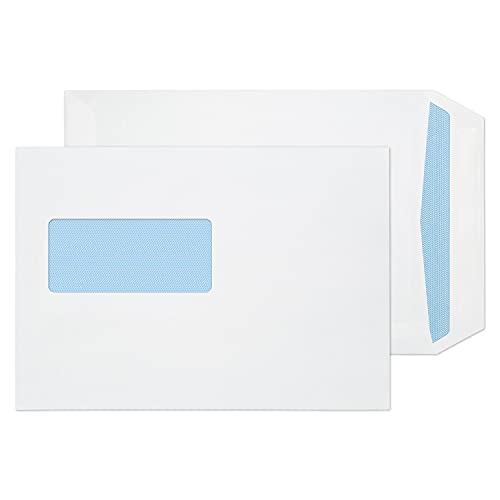 Blake Purely Everyday 90 gsm C5 229 x 162 mm Pocket Self Seal Window Envelopes (12084) White - Pack of 500 from Blake