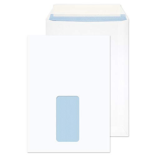 Blake Purely Everyday C5 229 x 162 mm 100 gsm Pocket Peel & Seal Window Envelopes (23084) White - Pack of 500 from Blake