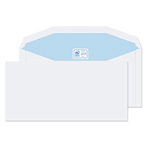 Blake Purely Everyday DL+ 114 x 235 mm 90 gsm Gummed Mailer Envelopes (3903) White - Pack of 1000 from Blake
