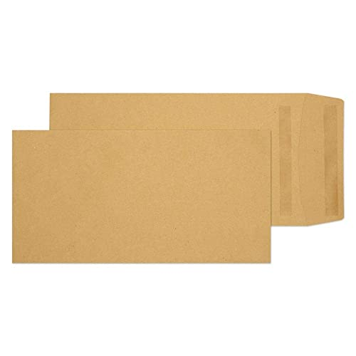 Blake Purely Everyday DL+ 235 x 121mm 80 gsm Pocket Self Seal Envelopes (8778) Manilla - Pack of 500 from Blake
