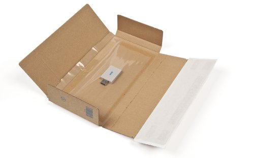 Blake Purely Packaging 235 x 122 x 20 mm Peel & Seal Super Secure Postal Box Tuck Flap (PSB10) Brown Kraft - Pack of 25 from Blake