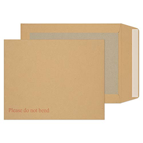 Blake Purely Packaging 267 x 216 mm Board Back Pocket Peel and Seal Envelopes (22935) Manilla - Pack of 125 from Blake
