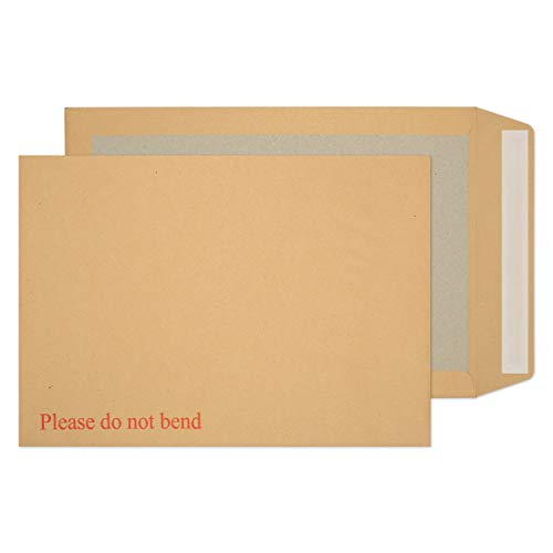 Blake Purely Packaging B4 352 x 250 mm Board Back Pocket Peel & Seal Envelopes (8112) Manilla - Pack of 125 from Blake