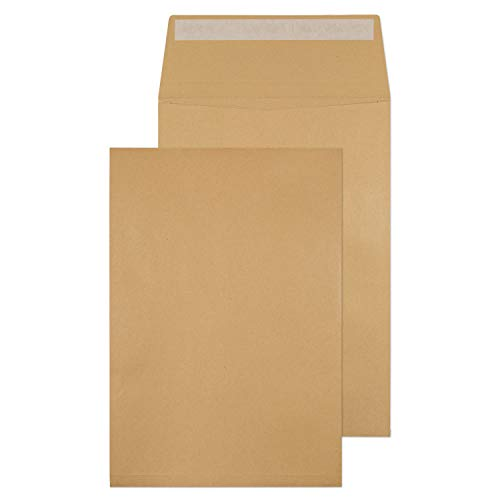 Blake Purely Packaging C4 324 x 229 x 25 mm 130 gsm Gusset Pocket Peel & Seal Envelopes (1991) Manilla - Pack of 125 from Blake