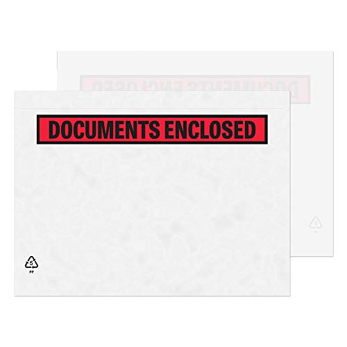 Blake Purely Packaging C5 235 x 175 mm Printed Documents Enclosed Wallet Envelopes Peel and Seal (PDE42) Clear - Pack of 1000 from Blake