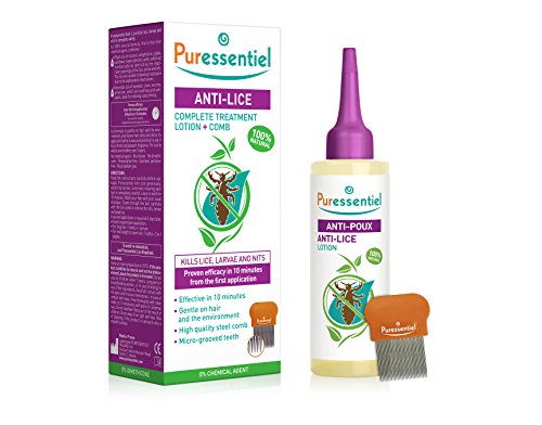 Puressentiel Anti-Lice Treatment Lotion and Comb 100 ml - head lice lotion, 100% natural origin, proven efficacy in 10 minutes, micro-grooved comb included from Puressentiel