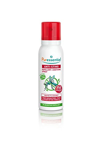 Puressentiel Anti-Sting Repellent and Soothing Spray 75 ml - Insect repellent, mosquitoes, biting insects - Tropical areas - 7H efficacy - From plant origin, non aerosol from Puressentiel