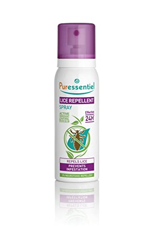 Puressentiel Lice Repellent Spray 75 ml - Head lice repellent - 24H effective protection - 100% natural origin, no neurotoxic repellent, non aerosol from Puressentiel
