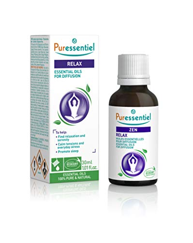 Puressentiel Essential Oils for Diffusion, Relax Blend 30 ml – Aromatherapy, 100% pure and natural essential oils with calming and soothing properties – For home, office, hotel, spa from Puressentiel