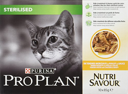Pro Plan Cat Sterilised Chicken 10 x 85g from Purina