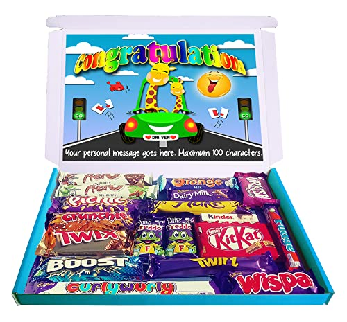 Personalised Passed Driving Test Gift Hamper Congratulations Chocolate Selection Box from Purple Gifts