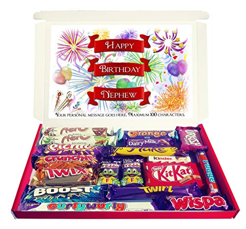 Personalised Happy Birthday Nephew Chocolate Gift Hamper Selection Box from Purple Gifts