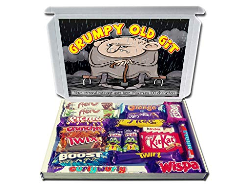 Personalised Grumpy Old GIT Gift for Him Chocolate Selection Box Great for Any Occasion from Purple Gifts