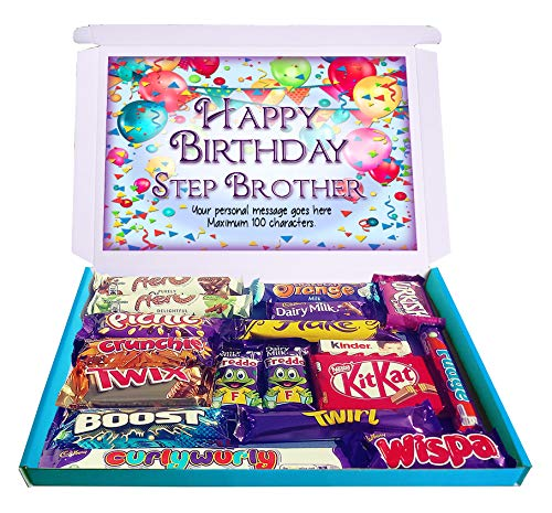 Personalised Happy Birthday Step Brother Gift Hamper Chocolate Selection Box Stepbrother from Purple Gifts