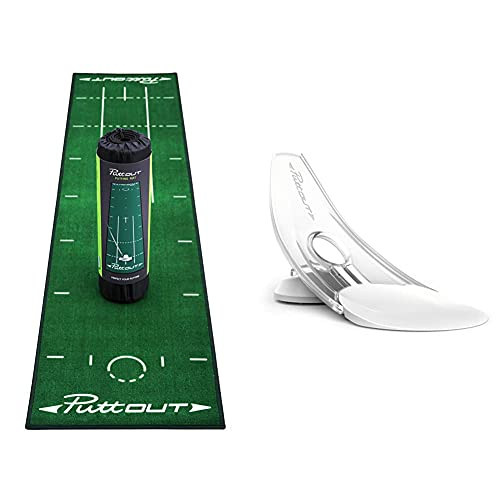 PuttOut Pro Golf Putting Mat - Green and Pressure Putt Trainer from PuttOut