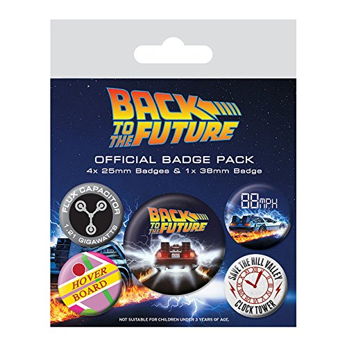Pyramid International Back to The Future Delorean Badge, Multi-Colour, 10 x 12.5 x 1.3 cm from Pyramid International