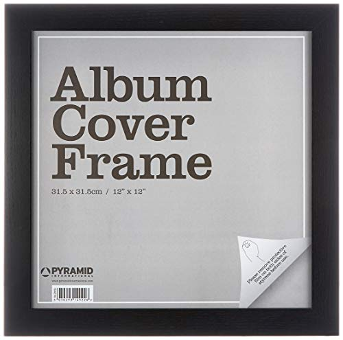 Pyramid International Black Wrapped MDF Album Cover Wall Art Frame, Paper, Multi-Colour, 31 x 31.5 x 1.3 cm from Pyramid International