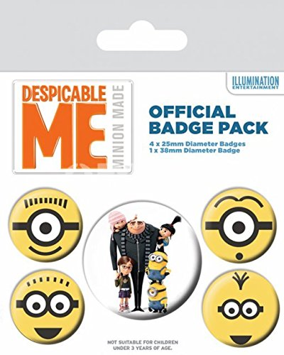 Pyramid International Despicable Me (Minions) -Badge 10 x 12.5cm, Multi-Colour, 10 x 12.5 x 1.3 cm from Pyramid International