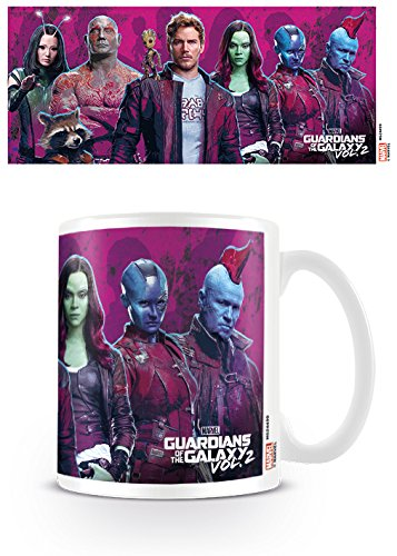 Pyramid MG24499 Guardians of The Galaxy Characters Vol. 2 Ceramic Mug, Porcelain, Multi-Colour from Pyramid