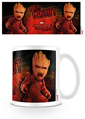 Pyramid International Guardians of the Galaxy 2 (Angry Groot) Official Boxed Ceramic Coffee/Tea Mug, Paper, Multi-Colour, 11 x 11 x 1.3 cm from Pyramid International