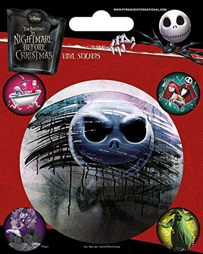 "Pyramid International"" Nightmare Before Christmas (Characters) Vinyl Stickers, Paper, Multi-Colour, 10 x 12.5 x 1.3 cm from Pyramid International"