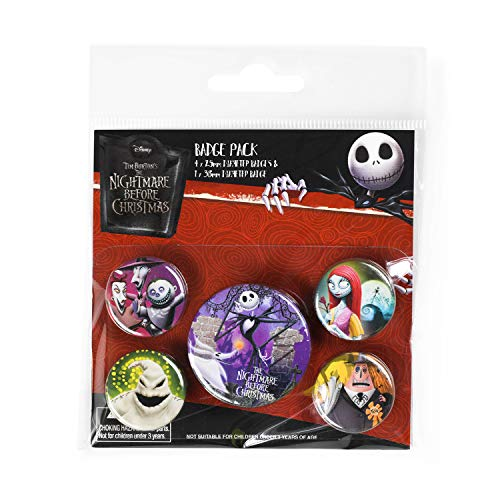Pyramid International Nightmare Before Christmas Characters Badge, Multi-Colour, 10 x 12.5 x 1.3 cm from Pyramid International