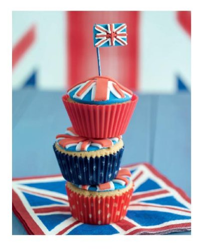Pyramid International Union Jack Cupcakes Stack by Howard Shooter Canvas Print from Pyramid International