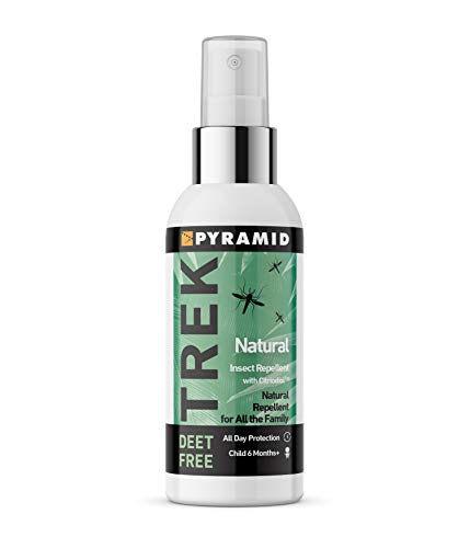 Pyramid Trek Natural No DEET Insect/Mosquito Repellent DEET FREE Citriodiol Spray - 60ml from Pyramid