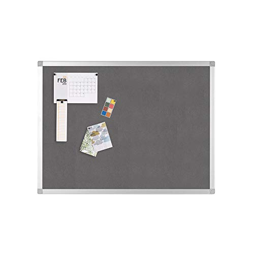 Q Connect 1200x900mm Aluminium Frame Notice Board - Grey from Q-CONNECT