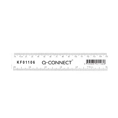 Q-Connect 150mm Ruler - Clear from Q-CONNECT