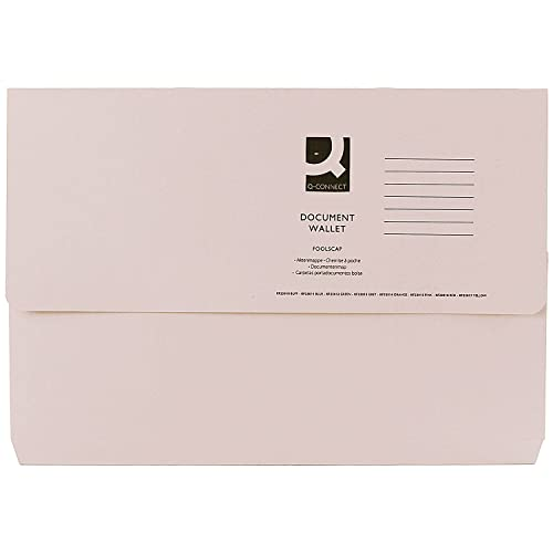 Q-Connect KF23010 285gsm Foolscap Buff Document Wallet from Q-CONNECT