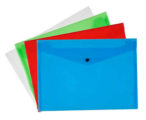 Q Connect A4 Polypropylene Document Folder - Assorted, Pack of 12 from Q-Connect