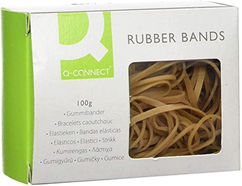 Q Connect Assorted Rubber Bands, 100 g from Q-Connect