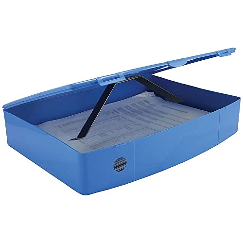 Q Connect Foolscap Polypropylene Box File - Blue from Q-CONNECT